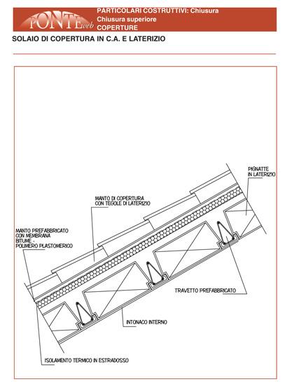 Ponteweb solaio di copertura in c a e laterizio for Solaio a sbalzo dwg